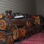 all wood locomotive model