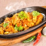 Suicide Chicken on Sizzler. Spicy, hot and delicious! Dare to Try??