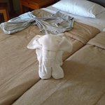 Towel Art from the lovely cleaning ladies!
