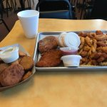 My food, the upper left of the main tray was a roll!