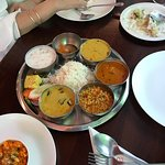 Best indian Pure Veg Food in Bangkok. Compare the Thali size portions!