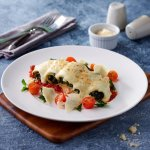 Spinach Ricotta (served with chunky tomato sauce, and gratinated Mozzarella cheese)