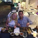 us enjoying the chateaubriand