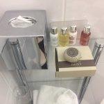 Moten Brown toiletries Room 1