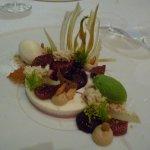 Feigen - in Sangria confierter Fenchel - Honigeis- Joghurt