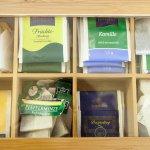 Teeauswahl, kostenlos für alle Gäste