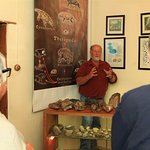 JP doing talk on Fossil in private museum