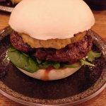 Beef bao bun burger