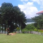 The lake view from the resort