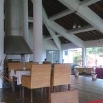 Spacious restaurant overlooking the lake