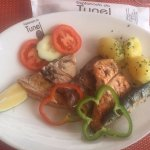 Fish mixed grill, Salmon, Tuna, Sword, Sardinies