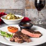 Sirloin Steak Done Grille Way.