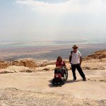 Masada and view of Dead Sea with Udi