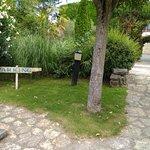 Jardín trasero que da acceso al passing