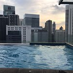 Amazing infinity pool with spectacular city views on 18th floor