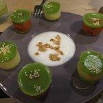 Layered tapioca dessert