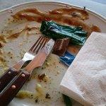 demolished cooked dinner