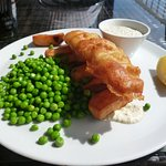 Fish and chips and homemade tartar sauce