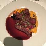 Deer tenderloin with blueberry sauce