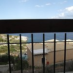 The superior seaview when seated was spoiled by the wooden beam and iron bars.