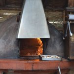 Wood fired oven for pizza and roasted guinea pig