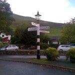 Signpost outside entrance