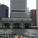 Approaching the Governors Island Ferry Building in Battery Park