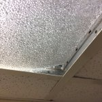 Drop in ceiling tiles broken and not fitting in the old ceiling grid