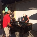 The staff has a blast playing foosball and ping pong with the guests