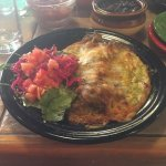 Cheese and asparagus enchilada