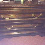 Grotty old dresser ( find the towels here ) :))