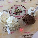 Ice Cream in Boat Dish