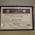 Winner of Taste of Kent Awards 2017