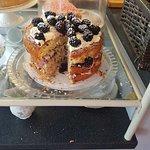 Homemade Blackberry and Marshmallow cake.