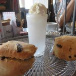 scones from the oven and a gin sorbet