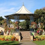 Band stand in the Runnymede Gardens across from the hotel