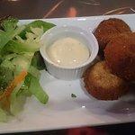 Mozza Stuffed Mushrooms + Garlic Mayo = Perfection !!