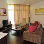 Living area in Suite #1508