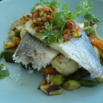 Sea bream with vegetables