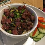 Spicy Tuna Bowl with avocado and rice