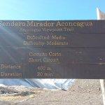 Sendero Mirador Aconcagua