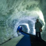 Ice tunnel to the Glacier Paradise