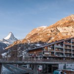 View of the hotel with the Matterhorn