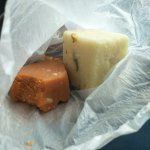 The best sweets in town. Milk Barfi and ....(which was Rly tasty)