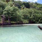 playa rincon - ruisseau se jetant dans la mer