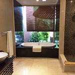 Indoor/outdoor bathroom