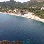 Valdos beach from the castle