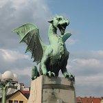 Dragon statue in Ljubjana.
