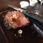 Couples dinner with salmon and prime rib