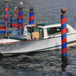 Cernobbio : Villa d'Este - Venise au Lac de Côme - Bateaux motorisés.